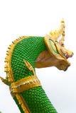 Serpent king or king of naga statue on white background, Wat Sam Royalty Free Stock Image