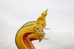 The serpent king or King of Naga Statue, Royalty Free Stock Photography