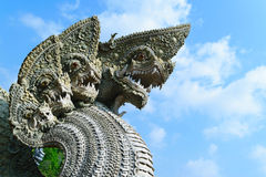 Serpent or naga statue head Stock Image