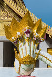 Serpent or Naga statue. KALASIN, THAILAND-May 19:Nagas figure  are represented as well in temple as architectural elements Stock Image