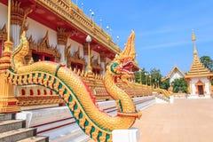 Serpent in Phra Mahathat Kaen Nakhon. Phra Mahathat Kaen Nakhon,Wat nong wang,The most beautiful temple in Thailand - Khon Kaen Stock Image