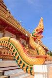 Serpent in Phra Mahathat Kaen Nakhon. Phra Mahathat Kaen Nakhon,Wat nong wang,The most beautiful temple in Thailand - Khon Kaen Royalty Free Stock Image