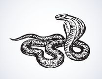 Serpent Retrait de vecteur illustration libre de droits
