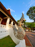 Serpent Sculpture Lanna Thai Architecture, Chiang Mai Royalty Free Stock Photo