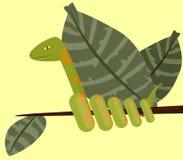 Serpent sur la branche illustration stock