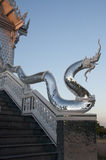 Serpent. Temple in the evening at northeast in Thailand Stock Photos