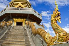 Serpent of thai temple. Royalty Free Stock Image