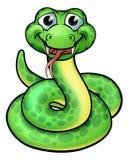 Serpente amichevole del fumetto Immagini Stock