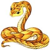 Serpente Aquarela da serpente ilustração royalty free