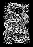Serpente Art Illustration dos peixes ilustração royalty free