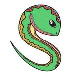 Serpente bonito dos desenhos animados Imagens de Stock Royalty Free