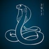 Serpente brilhante sem emenda do diamante. Serpente do ano 2013 Imagens de Stock