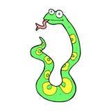 serpente cômica dos desenhos animados Fotografia de Stock