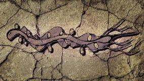 Serpente che disegna scena scura royalty illustrazione gratis