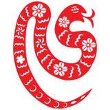 Serpente chinesa do ano novo Imagem de Stock Royalty Free