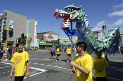 Serpente cinese dell'nuovo anno di Wellington Immagine Stock