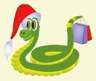 Serpente com presentes Fotografia de Stock Royalty Free