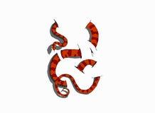serpente 3D su fondo bianco Fotografia Stock Libera da Diritti