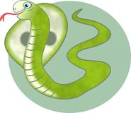 Serpente da cobra Imagem de Stock Royalty Free