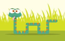 Serpente del fumetto Fotografia Stock