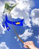 Serpente dell'euro dell'aria Fotografia Stock