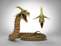 Serpente do dragão foto de stock