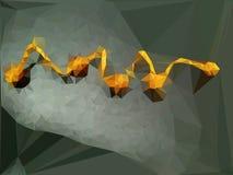Serpente do ouro ilustração do vetor
