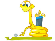 Serpente do personagem de banda desenhada Fotografia de Stock Royalty Free