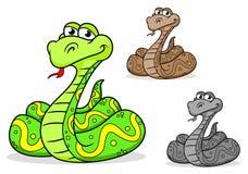 Serpente do pitão dos desenhos animados Imagem de Stock