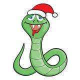 Serpente dos desenhos animados em um tampão Imagem de Stock