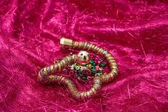 Serpente e ovos da jóia Fotografia de Stock