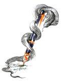 Serpente e penna stilografica Fotografia Stock Libera da Diritti