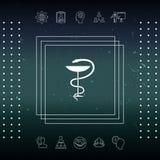 Serpente e tazza medici di simbolo della farmacia Immagini Stock Libere da Diritti