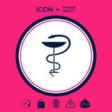 Serpente e tazza medici di simbolo della farmacia Fotografie Stock