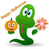 Serpente em um Halloween Fotografia de Stock Royalty Free