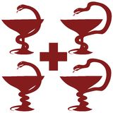 Serpente em um Wineglass Foto de Stock Royalty Free