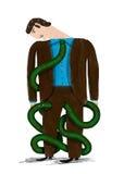 Serpente-Leghi Immagine Stock