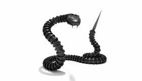 Serpente meccanico Fotografie Stock Libere da Diritti
