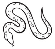 Serpente nero Immagini Stock Libere da Diritti