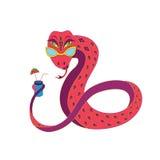 Serpente no descanso. ilustração royalty free
