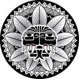 Serpente piumato dell'illustrazione di vettore della divinità del serpente di maya Immagini Stock