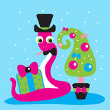 Serpente, regalo, 2013, nuovo anno Immagini Stock Libere da Diritti
