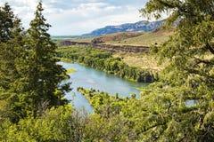 Serpente RiverCliffsin Idaho Fotografia Stock Libera da Diritti