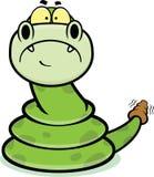 Serpente triste di crepitio del fumetto Immagine Stock Libera da Diritti