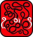Serpente - un simbolo di 2013 illustrazione di stock