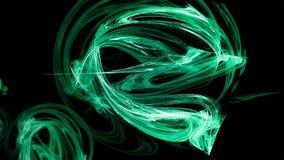 Serpente verde abstrata da energia Ilustração Stock