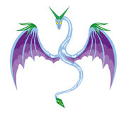 Serpente voada inverno ilustração royalty free
