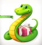 Serpenteie, animal no zodíaco chinês, calendário chinês Engrena o ícone Fotografia de Stock Royalty Free