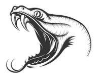 Serpenteie a cabeça ilustração stock