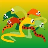 Serpentes ilustração stock